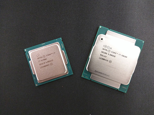Image of a Intel 6700K & Intel 5820K