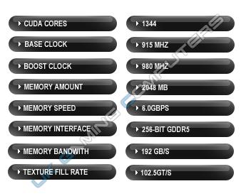 The standard Nvidia GTX 670 Spec