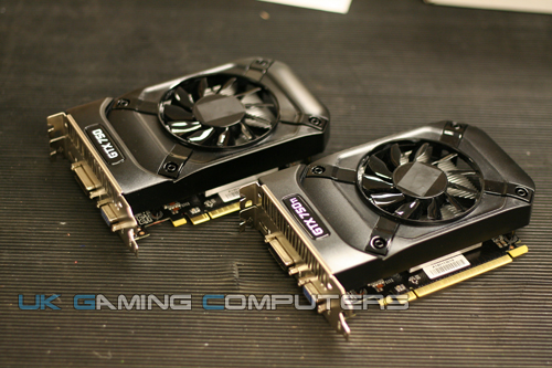 Nvidia GTX 750 and 750 Ti pictured