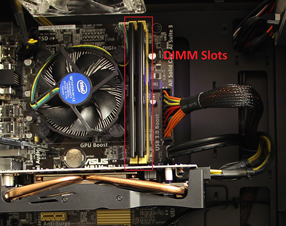 Image of DIMM Slots