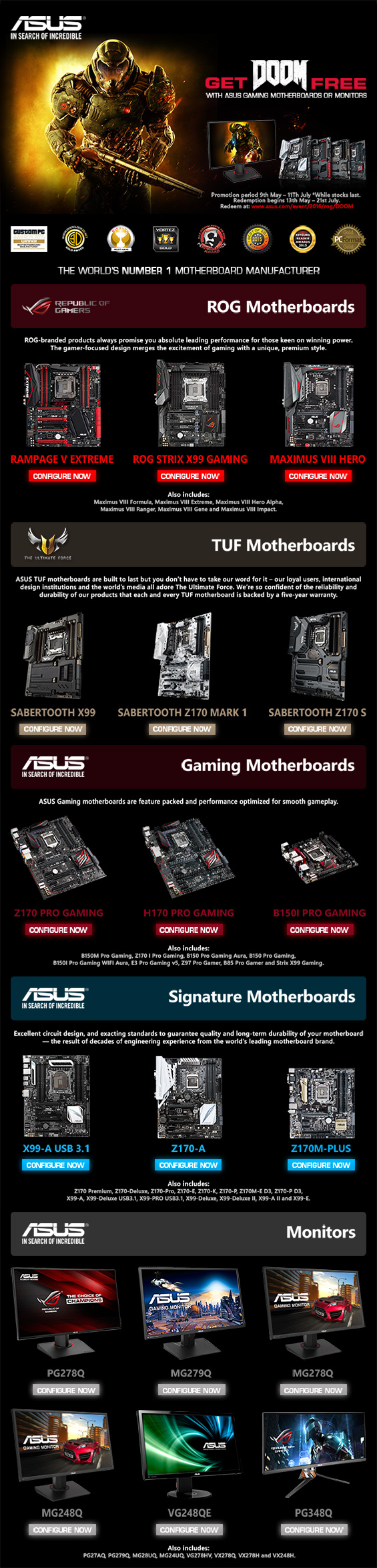 The Asus Doom PC Promotion