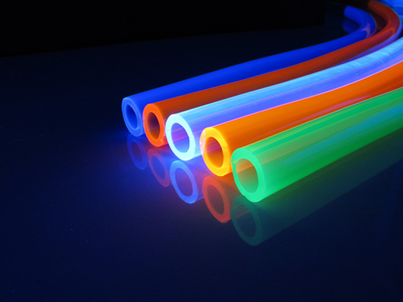 Image of different colour tubes