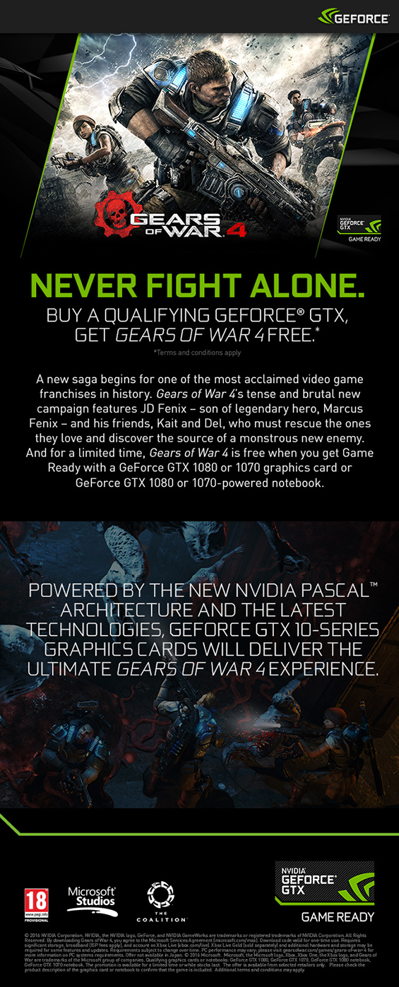 The Nvidia Gears of War 4 info banner