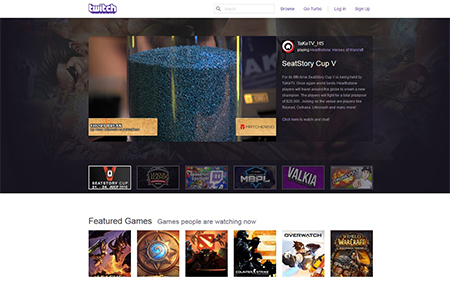 twitch home page