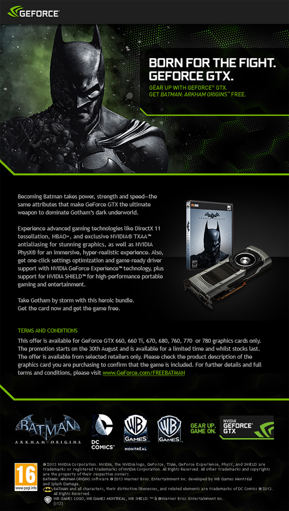 UK Gaming Computers Nvidia Promotion details