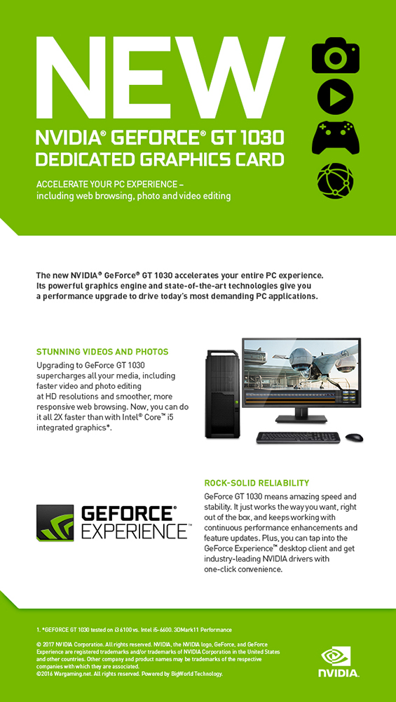 The Nvidia GT 1030 information picture