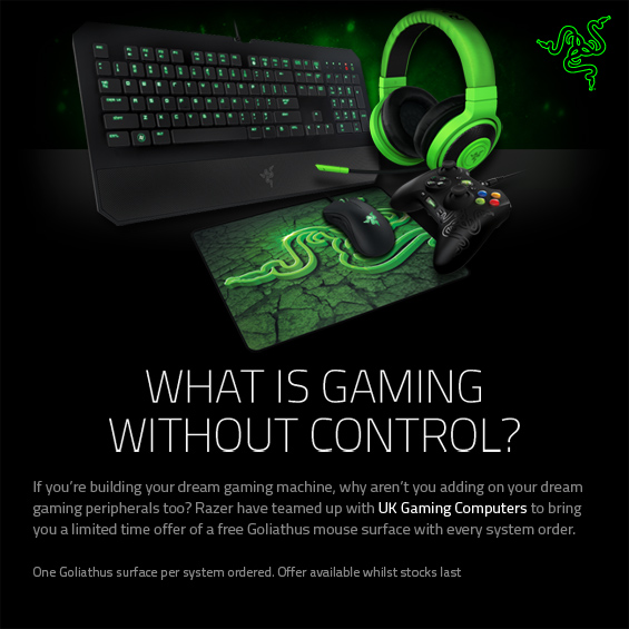 Razer Mouse Mat Promotion