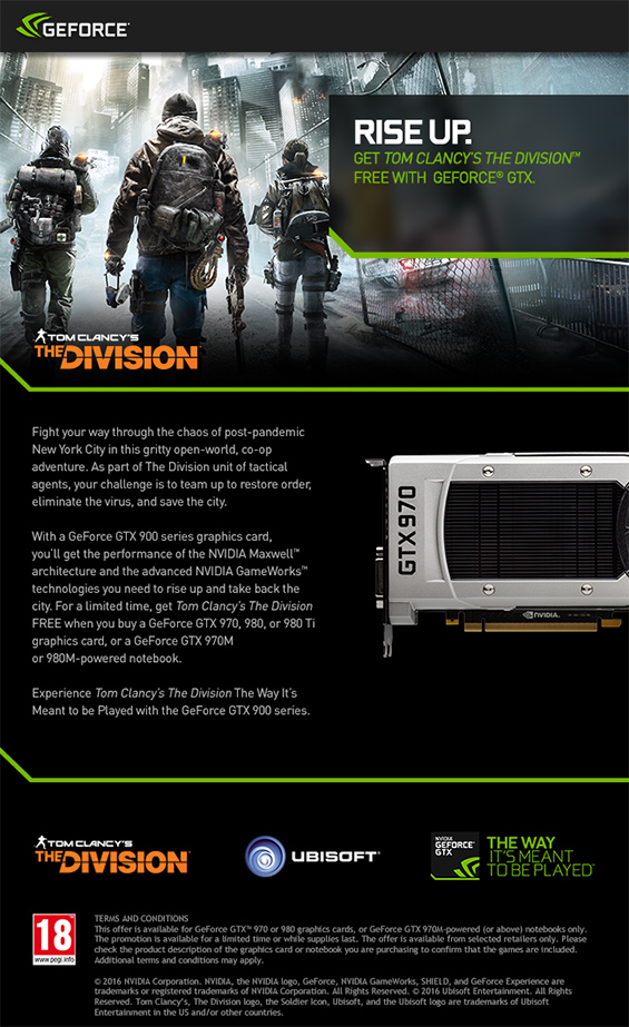 The Division PC Promotion