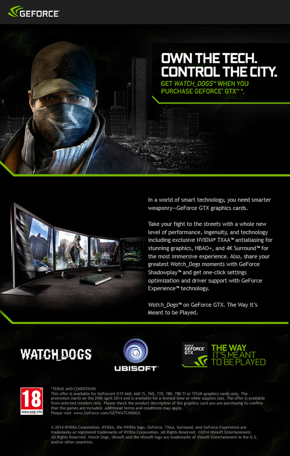 Watch Dogs Nvidia Promotion